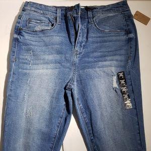 Mudd Women's Light Blue High Rise Jean Leggings